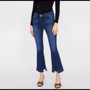 Brand New Zara Mini Flare Jeans